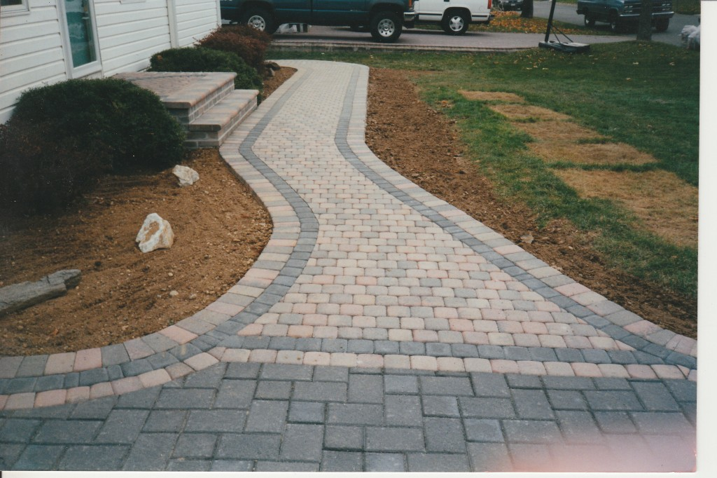 Marking The Pavers For Cutting